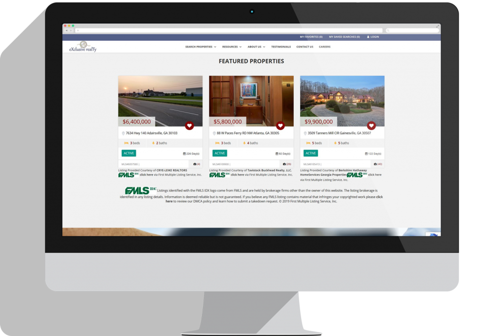 IDX Real Estate Website Properties Lead